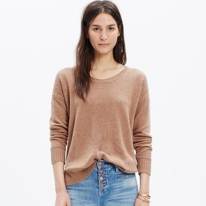 Madewell Tan Chronicle Texture Pullover Sweater